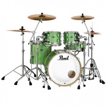 """Pearl Masters Maple Complete 4 Piece Drum Kit 22"""" x 18"""" Shell Set - Absinthe Sparkle Finish"""