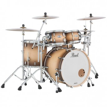 "Pearl Masters Maple Complete 4 Piece Drum Kit 22"" x 18"" Shell Set - Satin Natural Burst Finish"