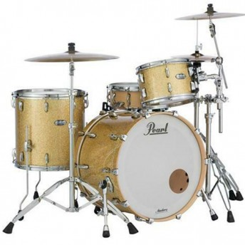 """Pearl Masters Maple Complete 3 Piece Drum Kit 24"""" x 14"""" Shell Set - Bombay Gold Sparkle Finish"""