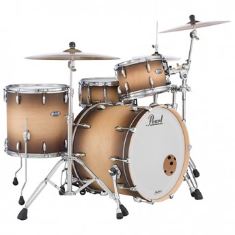 """Pearl Masters Maple Complete 3 Piece Drum Kit 24"""" x 14"""" Shell Set - Satin Natural Burst Finish"""