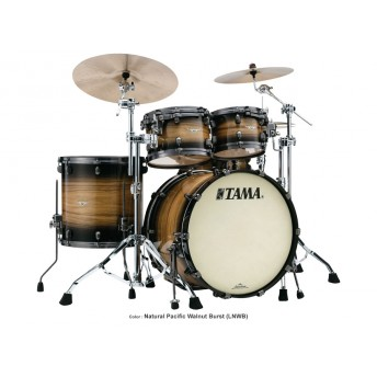 TAMA – STARCLASSIC EXOTIC MAPLE 4 PIECE DRUM KIT SHELL PACK – NATURAL PACIFIC WALNUT BURST