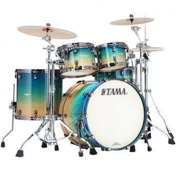 TAMA – STARCLASSIC MAPLE 4 PIECE DRUM KIT SHELL PACK – FIGURED CARIBBEAN BLUE FADE