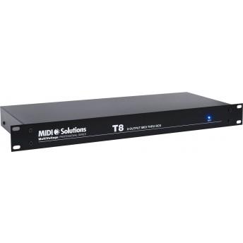 Midi Solutions MultiVoltage T8 1-in 8-out MIDI Thru Box