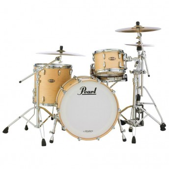 """Pearl Masters 3 Piece Maple Reserve MRV 24"""" Drum Kit Shell Set - Matte Natural"""