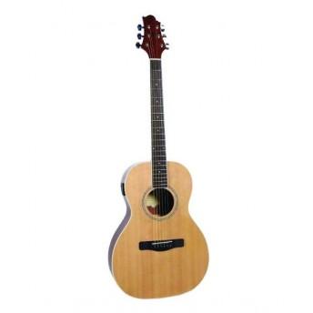 Greg Bennett Parlour Guitar w/Tuner Natural Finish Acoustic Guitar