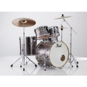 """Pearl Export EXX 20"""" Fusion Drum Kit with Hardware and RSG Pack Smokey Chrome"""