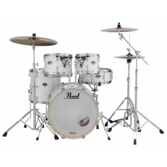 "Pearl Export EXX 20"" Fusion Drum Kit W/Hardware Pure White"