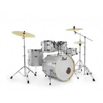 """Pearl Export EXX 20"""" Fusion Drum Kit with Hardware and RSG Pack Arctic Sparkle"""