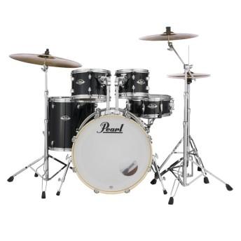 "Pearl Export EXX 22"" Fusion Drum Kit W/Hardware Jet Black"