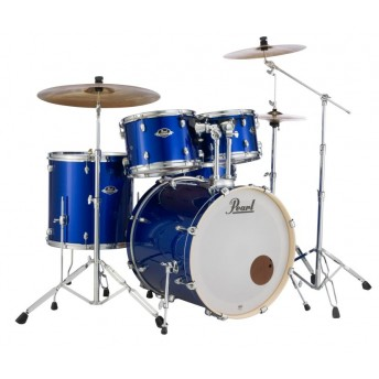 """Pearl Export EXX 22"""" Fusion Plus Drum Kit with Hardware and RSG Pack High Voltage Blue"""
