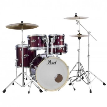 """Pearl Export EXX 22"""" Rock Drum Kit with Hardware and RSG Pack Burgundy"""