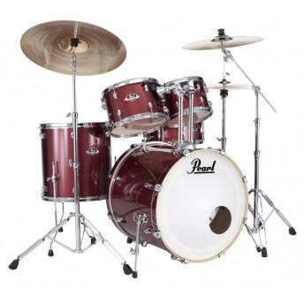 "Pearl Export EXX 22"" Fusion Plus Drum Kit W/Hardware Black Cherry Glitter"