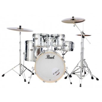 "Pearl Export EXX 22"" Fusion Plus Drum Kit with Hardware and RSG Pack Mirror Chrome"