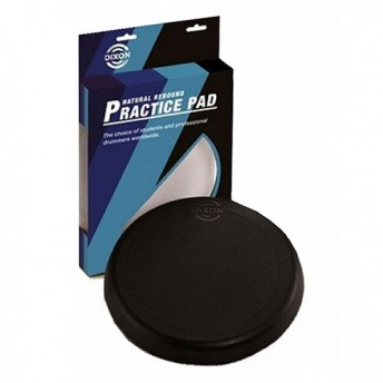 "Dixon 10"" Rubber Drum Practice Pad in Black - PDP10DXBX"
