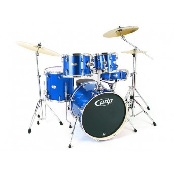 PDP - Mainstage 5 Piece Midnight Blue Sparkle Drum Kit w/Hardware & Meinl Cymbals