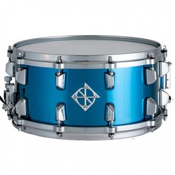 "Dixon Artisan Series 14"" x 6.5 Blue Titanium Plated Steel Snare Drum - PDSAN654BTS"