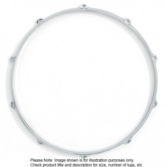 "Dixon 12""/6 Lug Die Cast Snare/Tom Batter Side Chrome Plated Drum Hoop - PKS512B6CR"