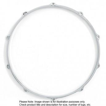 "Dixon 14""/10 Lug Die Cast Snare Batter Side Chrome Plated Drum Hoop - PKS514B0CR"