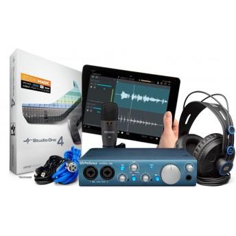 PreSonus AudioBox iTwo Recording Kit Bundle with HD7 Headphones & M7 Mic