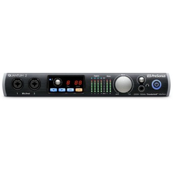 PreSonus Quantum 2 Thunderbolt 2 Audio Interface with 4 x XMAX mic preamps