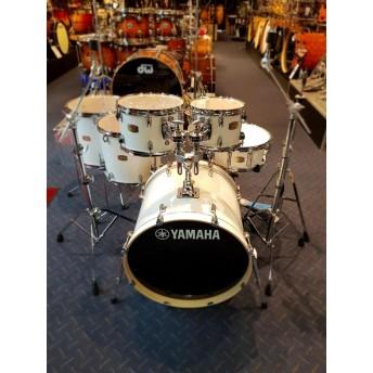 Yamaha Stage Custom Birch 6 Piece Euro Drum Kit with Hardware - Pure White - BONUS FLOOR TOM