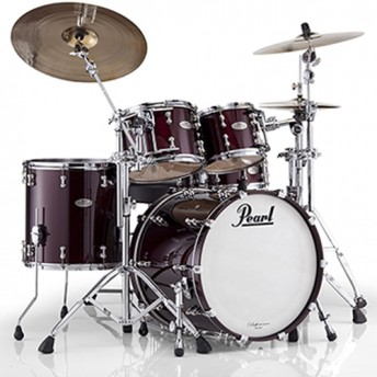 "Pearl Reference Pure 4 Piece Drum Kit 22"" Shell Set - Black Cherry Sparkle Finish"