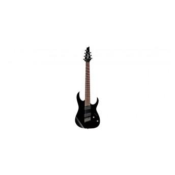 Ibanez RGMS7 BK 7 String Multiscale Electric Guitar