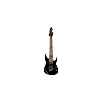 Ibanez RGMS8 BK 8 String Multiscale Electric Guitar