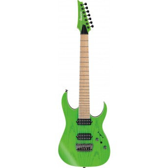 Ibanez RGR5227MFX TFG 7-String Prestige Electric Guitar with Case Transparent Fluorescent Green 2019