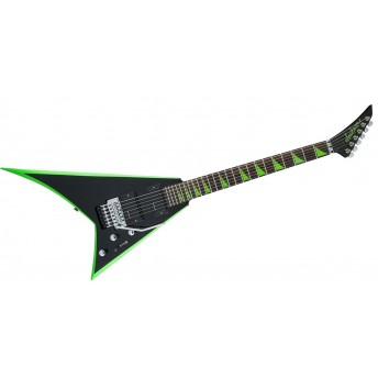 Jackson - X Series Rhoads RRX24 Guitar - Black with Neon Green Bevels