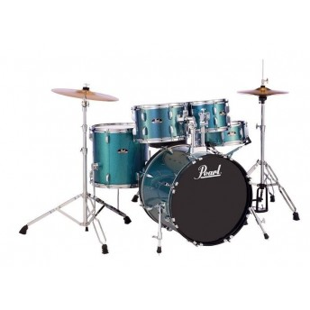 "Pearl Roadshow 20"" 5 Piece Fusion Drum Kit with Hardware and Cymbals Aqua Glitter"