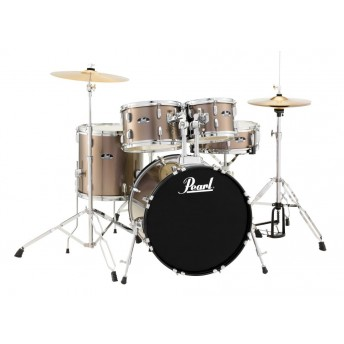 "Pearl Roadshow 20"" 5 Piece Fusion Drum Kit with Hardware and Cymbals Bronze Metallic"