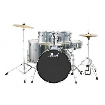 """Pearl Roadshow 22"""" 5 Piece Fusion Plus Drum Kit with Hardware and Cymbals Charcoal Metallic"""