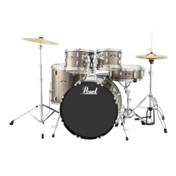 """Pearl Roadshow 22"""" 5 Piece Fusion Plus Drum Kit with Hardware and Cymbals Bronze Metallic"""