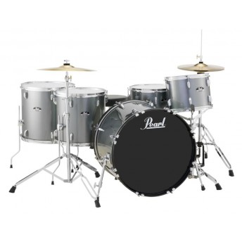 "Pearl Roadshow 22"" 5 Piece Rock Drum Kit with Hardware and Cymbals Charcoal Metallic"