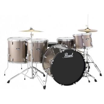"Pearl Roadshow 22"" 5 Piece Rock Drum Kit with Hardware and Cymbals BronzeMetallic"