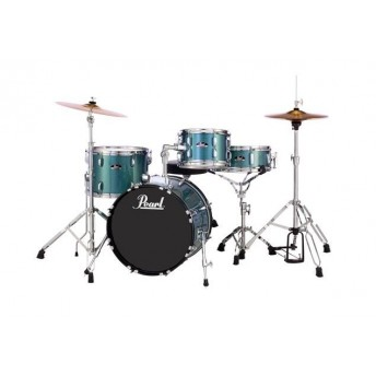 "Pearl Roadshow 18"" 4 Piece Drum Kit with Hardware and Cymbals Aqua Blue Glitter"