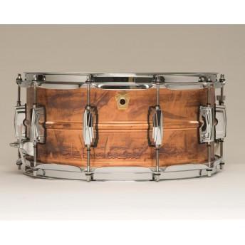 "LUDWIG – COPPERPHONIC LC663 14""X6.5"" RAW COPPER SNARE DRUM"