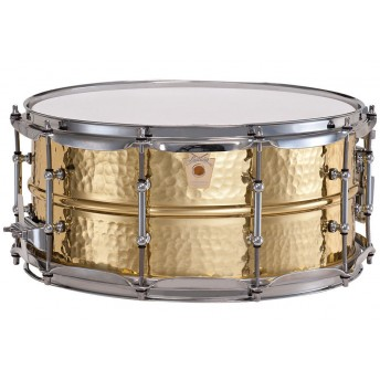 "LUDWIG – HAMMERED BRASS 14""X6.5"" SNARE DRUM"
