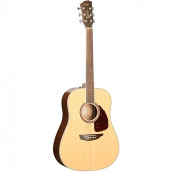 SGW Solid Top Dreadnought Natural Finish Acoustic Guitar