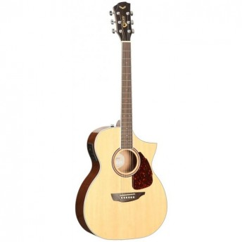 SGW Solid Top Orchestra Cutaway Electric Acoustic Guitar Natural