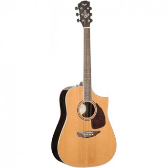SGW Solid Top Dreadnought Cutaway Electric Acoustic Guitar Natural