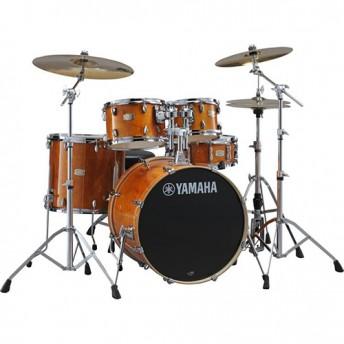 "Yamaha Stage Custom Birch 6 Piece Fusion Drum Kit with Hardware - Honey Amber - BONUS 8"" TOM"