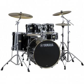 Yamaha Stage Custom Birch 6 Piece Euro Drum Kit with Hardware - Raven Black - BONUS FLOOR TOM