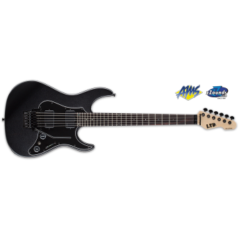 LTD LSN-1000FRRCHMF SN Series SN-1000FR Flamed Maple Floyd Rose Charcoal Metallic Electric Guitar