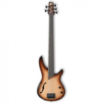 Ibanez SRH505F NNF Electric 5 String Bass Natural Browned Burst Flat 2019