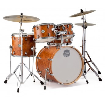 MAPEX – STORM 5-PIECE FUSION DRUM KIT WITH HARDWARE W/CYMBALS – CAMPHOR WOOD GRAIN