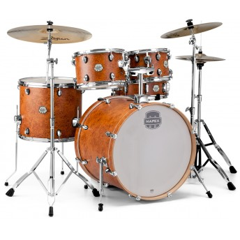 MAPEX – STORM 5-PIECE ROCK DRUM KIT WITH HARDWARE – CAMPHOR WOOD GRAIN