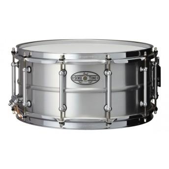 "Pearl Sensitone Snare Drum 14""x6.5"" Beaded Seamless Aluminum"