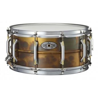 "Pearl Sensitone Snare Drum 14""x6.5"" Premium Beaded Brass"